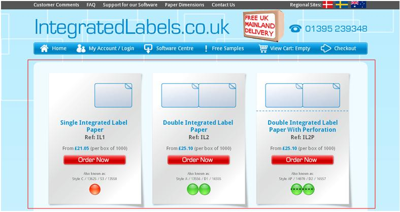 Integrated Labels Purchasing paper