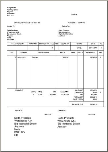 myob invoice template free – residers, Simple invoice